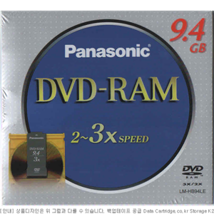 광디스크 Panasonic DVD-RAM 9.4GB Type4 LM-HB94L 3X(3배속) 5장